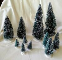 Lemax Christmas Village Evergreen Trees 11 Piece Set