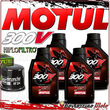 TAGLIANDO OLIO 4 L MOTUL 300 V 10W40 + FILTRO HIFLO TRIUMPH 1050 Sprint GT 2010