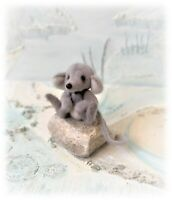 9cm Faux Fur Little Baby Mouse OOAK jointed Artist  Bear one off Design