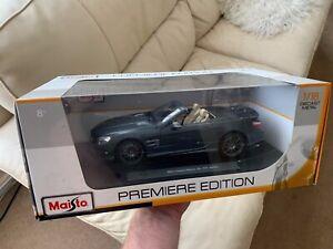 1:18 Mercedes SL65 AMG Maisto Satin/Matt Grey R231 Used in box