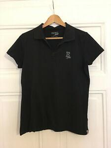 Esprit Sport Polo Shirt Gr. 44 Schwarz 100% Baumwolle