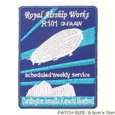"""R101 Royal Airship Works """"Zeppelin"""" - Embroidered Iron-On Patch!"""