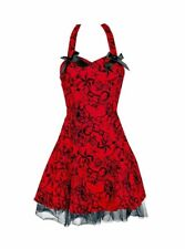 H&R London Tattoo Flocked Mini Dress, UK 16 NWOT
