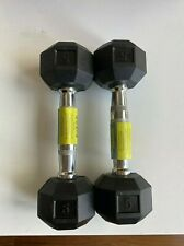 5 lb pound dumbells weight set (×2 10lb total) / (SPRI / CAP) Hex