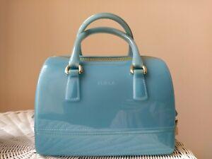 Furla Candy Bag Dome Sky Blue Handbag