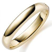 12mm Armreif Armband Armschmuck aus 585 Gold Gelbgold glatt glänzend, Damen