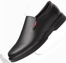 Mens Water-proof Chef Kitchen Safety Work Shoes Slip on Loafers moccasin Shoes