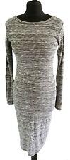 GINGER G GREY LONG SLEEVED DRESS - UK Size 8