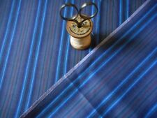 Antique French Stripe Shirting Cotton Fabric ~ Blue