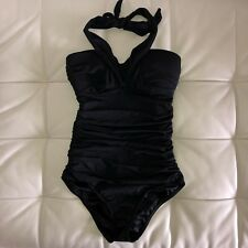 Sexy!! New Victoria's Secret Halter One-Piece Swimsuit Black Shaping Extra Small