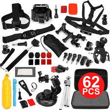 62in1 Accessories Pack Case Chest Head Monopod For GoPro Go pro HD Hero 4 3+ 3 2