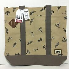 VANS Canvas Large Tote Shopper Beach School Bag Brown Fishing Camping Totem NWT