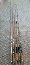 Vtg Garcia Conolon Kingfidher Foremost Pennys Two Pc Fishing Rods Lot of 5