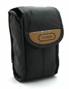 GENUINE CANON BLACK PU LEATHER DIGITAL COMPACT CAMERA CASE/BAG/COVER