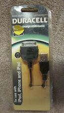 Duracell Sync & Charge USB Cable - For Use with iPod,iPhone and iPad  (B 19)