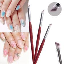 Nail Art Gradient Dizzy Dye Brush Wood Handle Angle Nail Painting Drawing Pen