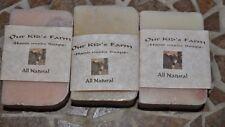 "3 Handmade All Natural ""Our Kid's Farm"" Soap-Goats Milk"
