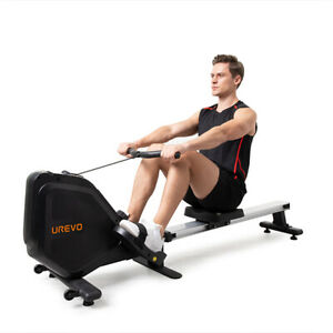 UREVO Foldable Rowing Machine Exercise 8 Level Resistance Rower Max.330 lb w/LCD