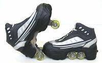 UNIQUE Quad KICK ROLLER Skates retractable WALKnROLL BN black/grey FREE SHIP