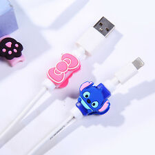 Kawaii USB Data Cartoon Charger Cable headphones Line Saver Protector For iPhone
