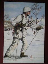 POSTCARD 2ND LIEUTENANT 2ND BN ROYAL REGIMENT OF FUSILIERS 1991 NORWAY ALIX BAKE