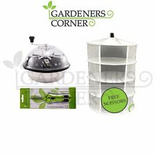 Hydroponics Ultra Spin Pro & Tumble Leaf Trimmer Cutter Trimming Bowl & Dry Net