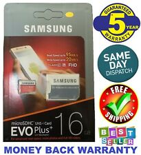 SAMSUNG EVO Plus 16GB MicroSD Micro SDHC C10 Flash Memory Card w/ SD Adapter FHD