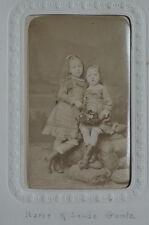 Photo Albuminé Cdv Marie et Louise Guntz Provenance Album Militaire Mexique 1870