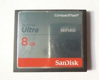 SanDisk 8GB Ultra CompactFlash CF Memory Card 50MB/S SDCFHS-008G For DSLR Camera