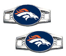 Denver Broncos Shoe Charms / Paracord Charms - Pair of 2