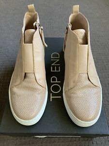 EUC Top End Nude Leather Ankle Boots Size 39