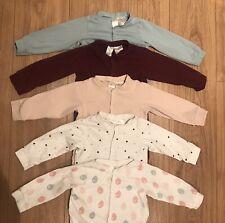 H&M Organic Cotton Footless Sleepsuits / Pyjamas Bundle Of 5 18-24 Months EUC