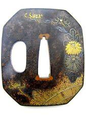 Original Eisen Tsuba Japan Edo-Zeit 18./19. Jh. Schwert Stichblatt