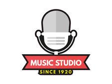 1 x adhesivo Music Studio since 1920 oldies canción muy antigua sticker música tuning radio
