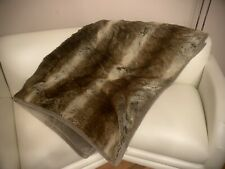 "Pottery Barn Faux Fur Ombre Stripe Throw Blanket 48"" x 60"""
