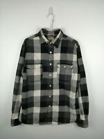 VINTAGE MENS FLANNEL SHIRT MOSSIMO CO SIZE M ATHLETIC FIT GREY CHECK 100% COTTON