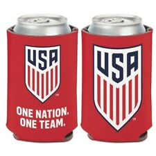"""USA Soccer """"One Nation"""" Can Koozie Holder Collapsible Free Shipping! NEW USMNT"""