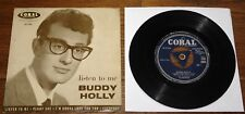 """BUDDY HOLLY ~ LISTEN TO ME ~ UK CORAL 4-TRACK 7"""" EP 1958 ~ TRI-CENTRE W/ GLASSES"""
