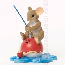 New Dad I Would Be Sunk Without Your Love Charming Tails Mouse Figurine Enesco