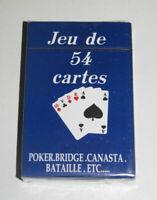Jeux de 54 Cartes Classiques 9 X 6 cm Bleues NEUF Playing Crads