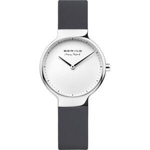 BERING Max Rene 15531-400 Damenuhr Silikonband Silikon Armband Grau neu