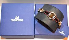 $360 New Authentic Swarovski Crystal 1110335 Pony Leather Bracelet