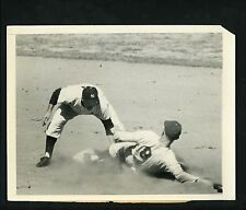 Phil Rizzuto George Shuba 1950 Wire Photo estate Yankees Brooklyn Dodgers