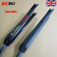 """EC90 UK Road Bike 700C Rigid Fork Matt/Gloss 1-1/8"""" Full Carbon Fiber Straight"""