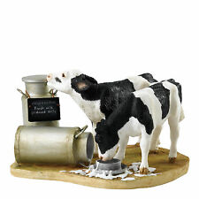 Border Fine Arts Double Kitchy & Co Trouble at the Dairy Calfs Figurine
