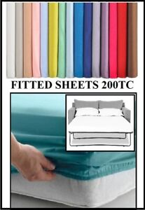 """SOFA BED / Pull Out Bed FITTED SHEET 115cm x 180cm (45"""" x 71"""")   OVER 20 COLOURS"""
