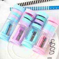 Mini Cute Pencils Sharpener and eraser For Student Kids Gifts Office Stationery