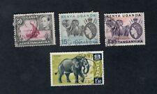 British Kenya Uganda Tanyanika  Elephants  usable stamps