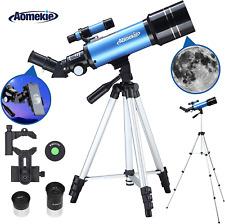 Aomekie Teleskop 70/400 Fernrohr Teleskop Astronomisches Teleskop für Kinder Ei
