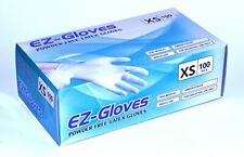 Ez Gloves 100 pcs Disposable Latex Gloves 5.5 Mil Powder Free - X-Small